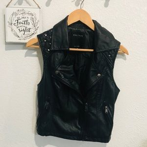 🌼3/$20🌼 Therapy Faux Leather Motto Vest Sz M